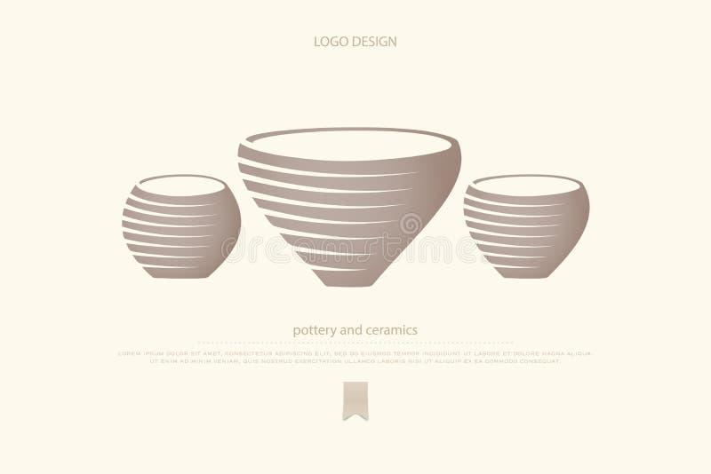 陶瓷 向量例证