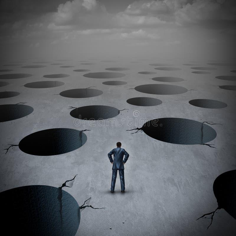 陷阱企业概念 向量例证