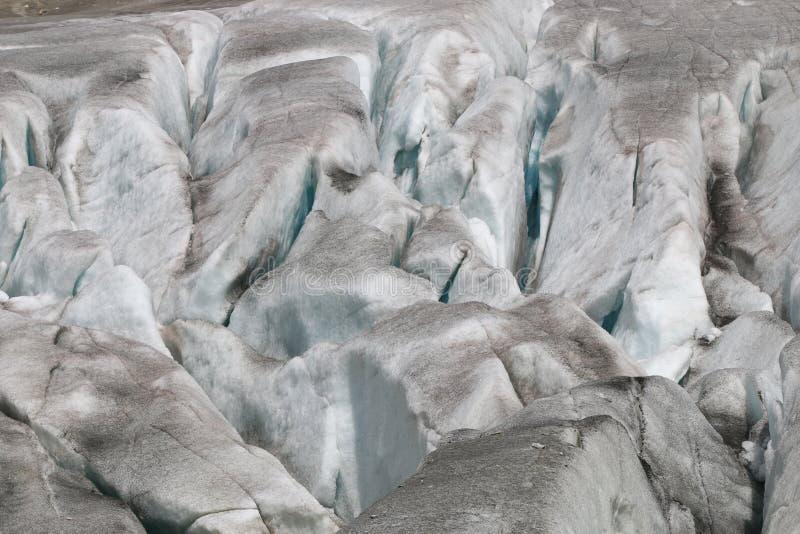 隆河冰河 免版税库存照片