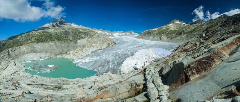 隆河冰河 库存图片