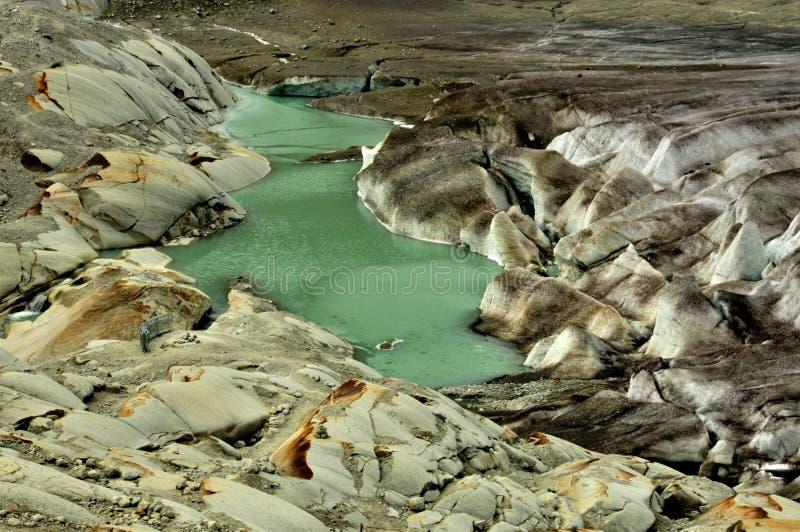 隆河来源 库存照片