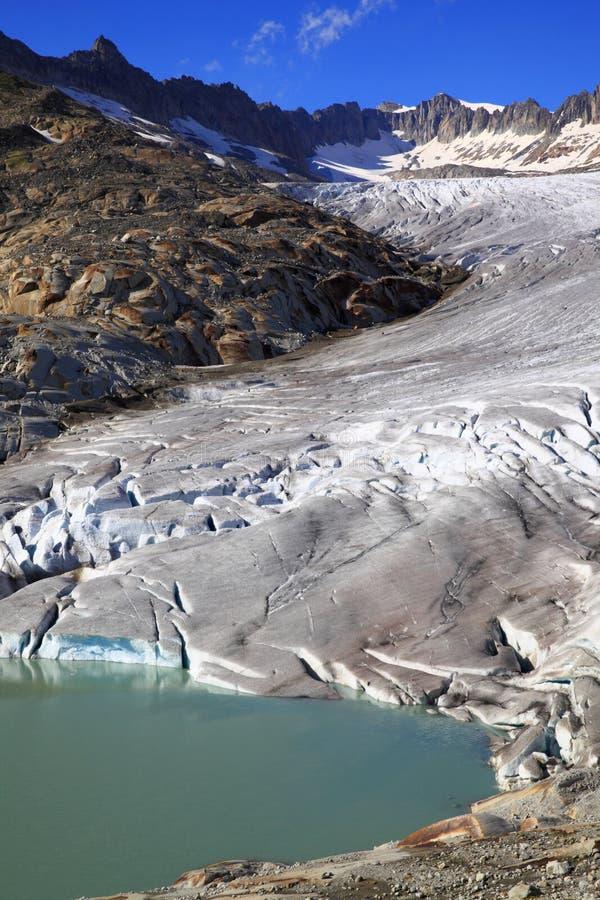 隆河的冰川 免版税图库摄影