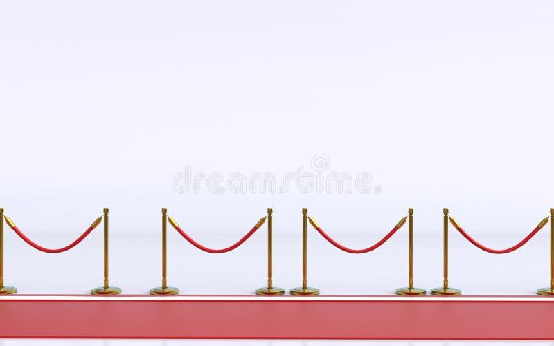 隆重与在背景3D例证的白色 皇族释放例证
