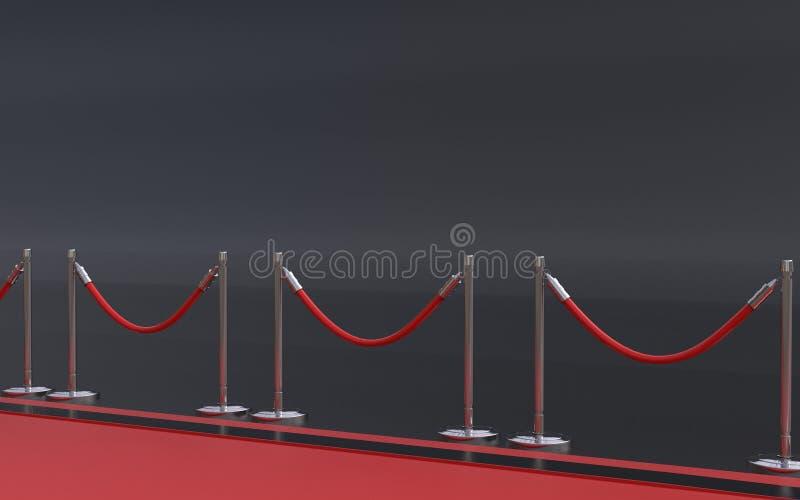 隆重与在背景3D例证的黑色 皇族释放例证