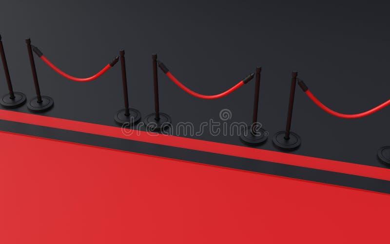 隆重与在背景3D例证的黑色 向量例证