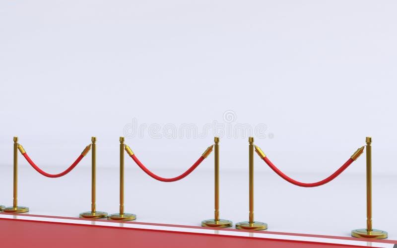 隆重与在背景3D翻译的白色 皇族释放例证