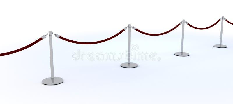 隆重和天鹅绒绳索 库存例证