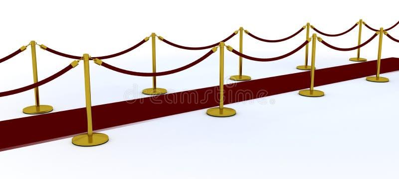 隆重和天鹅绒绳索 向量例证