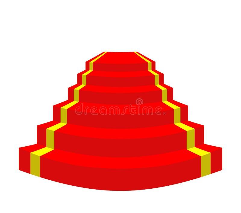 隆重在白色背景 VIP的台阶 传染媒介illustr 库存例证