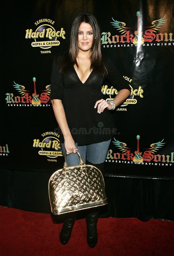 隆重的Chloe Kardashian 免版税库存照片