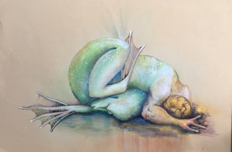 隐喻蛙人变形 免版税库存图片
