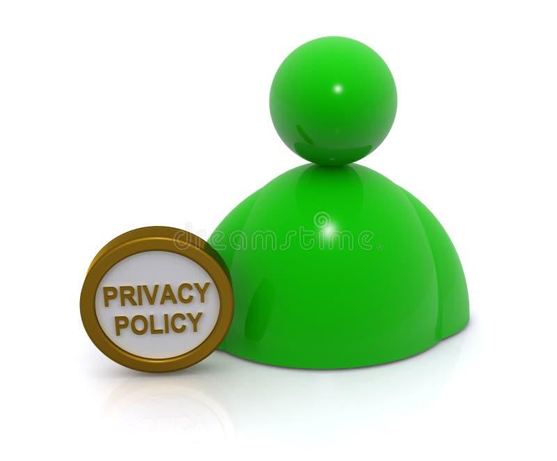 隐私权政策概念 向量例证