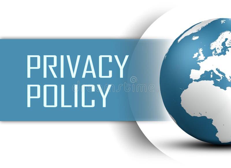 隐私权政策 向量例证