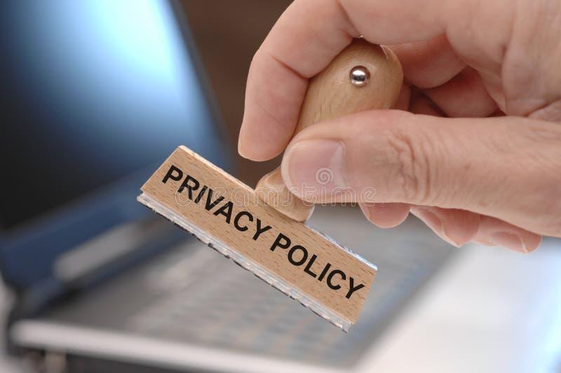 隐私权政策 免版税库存图片