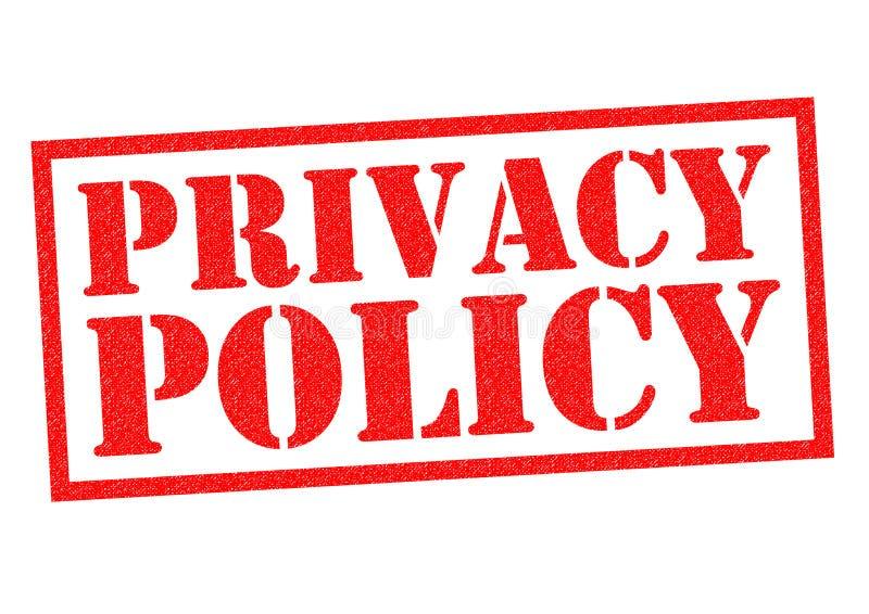 隐私权政策 皇族释放例证