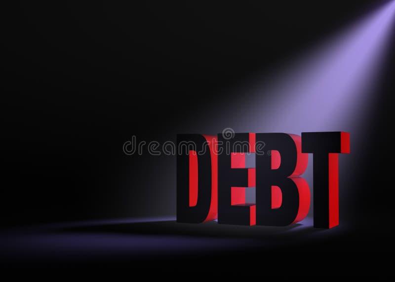 隐约地出现的债务 库存例证