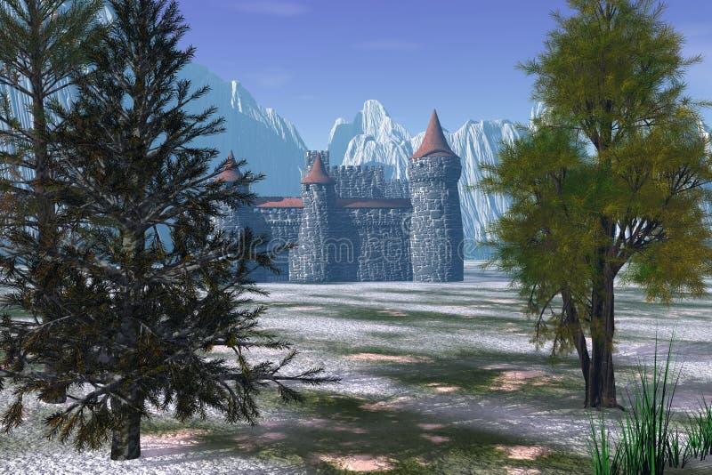 隐藏的城堡 库存例证