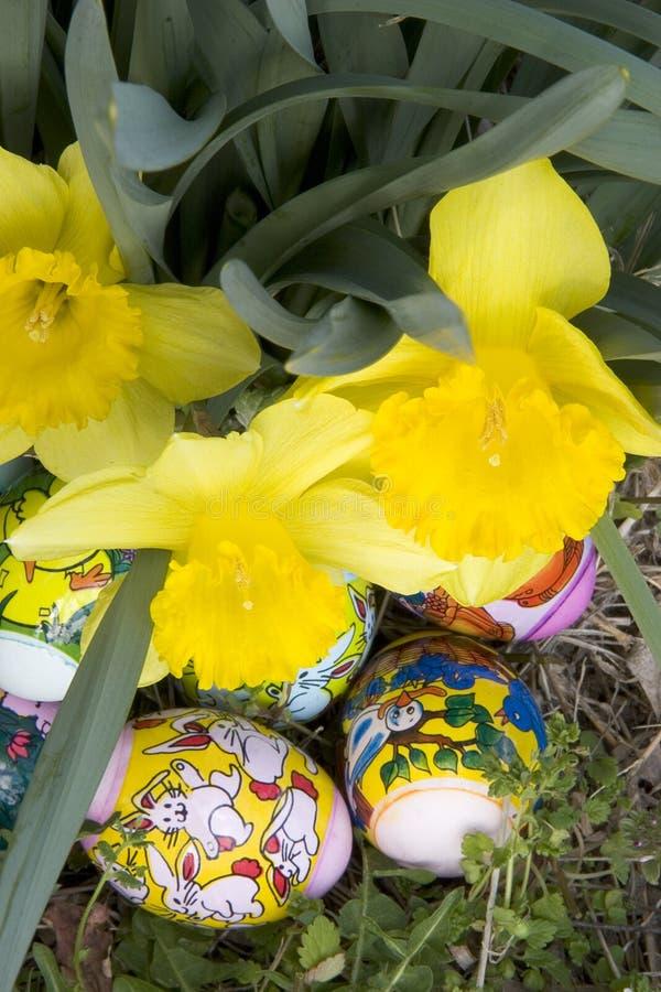 隐藏的复活节彩蛋 免版税库存图片