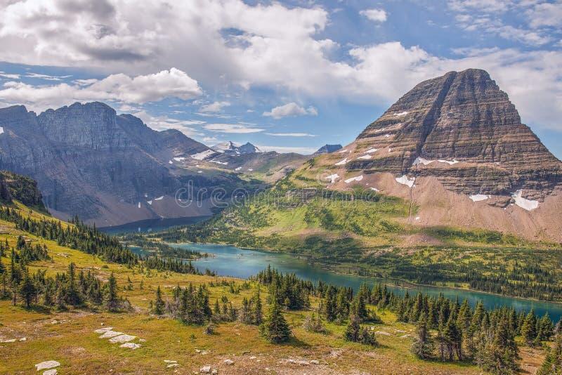 隐藏的湖 冰川国家公园 蒙大拿 美国 免版税库存照片