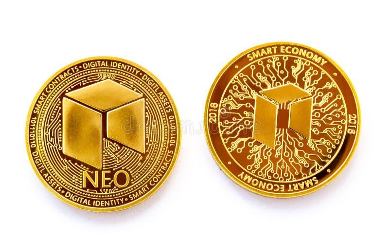 隐藏货币数字式硬币-新前面和后面 免版税图库摄影
