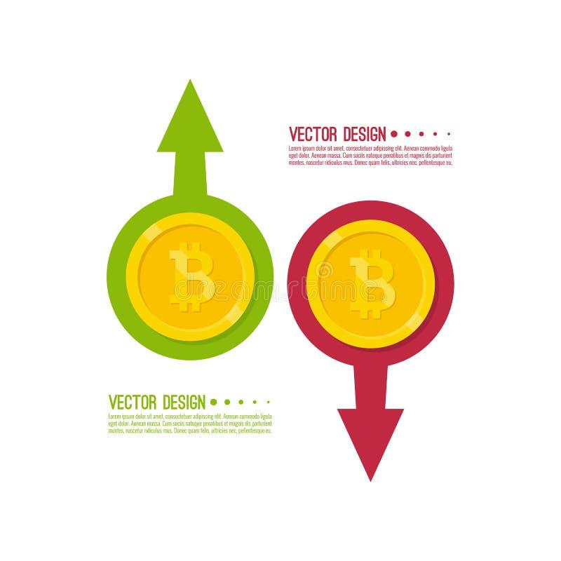 隐藏货币bitcoin 皇族释放例证