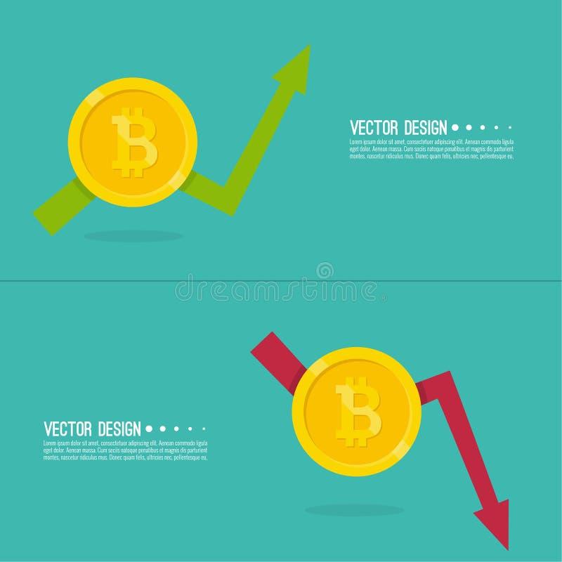 隐藏货币bitcoin 库存例证