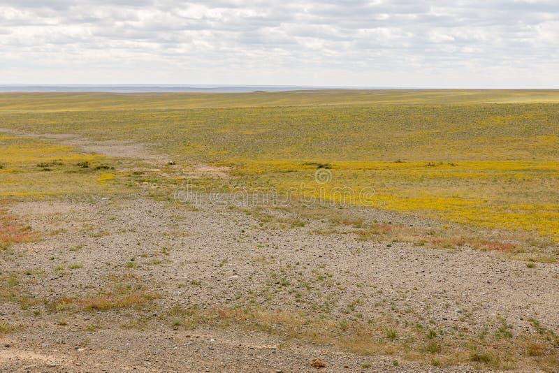 隔壁滩,蒙古秋天风景 免版税库存照片