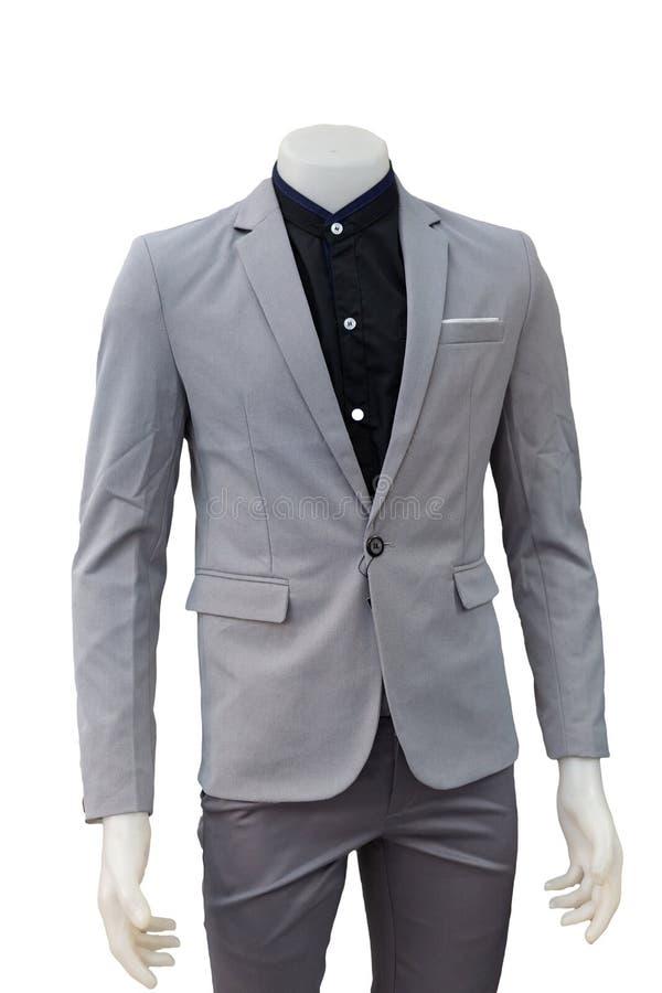 隔绝在时装模特的灰色衣服 库存照片