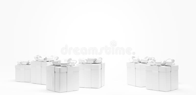 隔绝提出欢乐礼物盒3d例证 库存例证