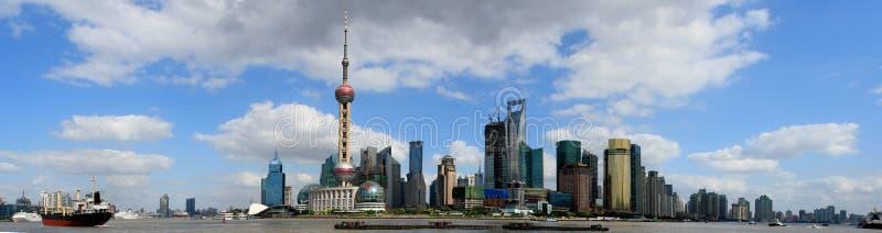 障壁全景上海 免版税库存图片
