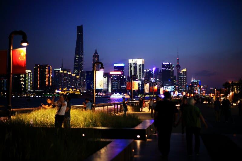 障壁晚上上海 库存图片