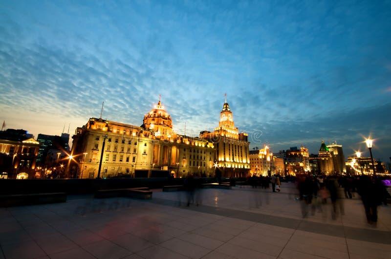 障壁晚上上海 免版税库存照片