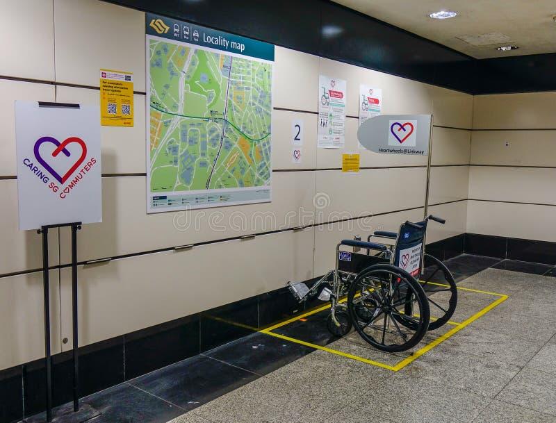 障碍人们的轮椅 库存图片