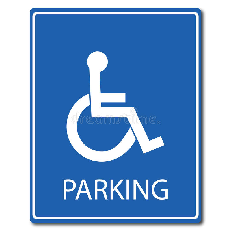 障碍停车处标志 皇族释放例证