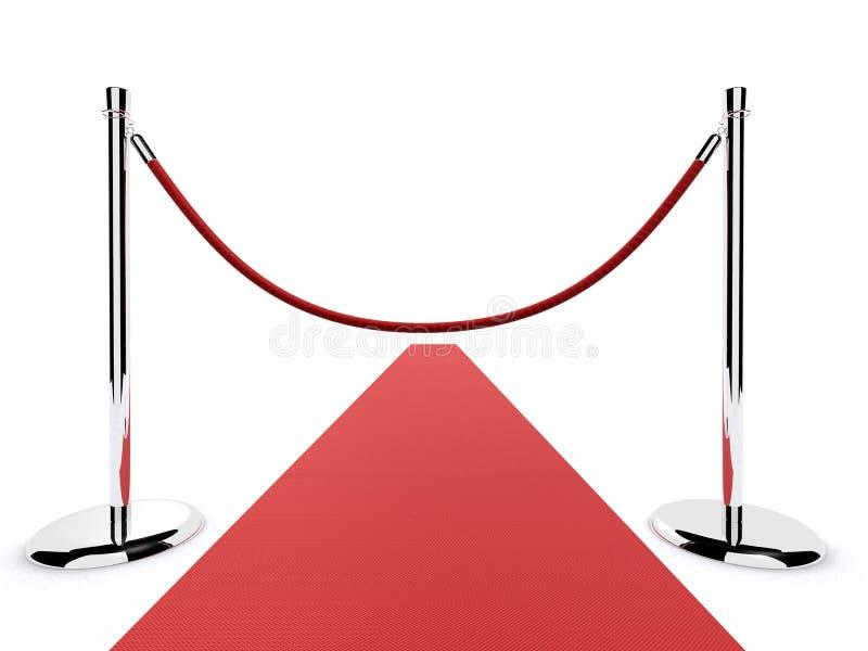 障碍地毯红色 库存例证