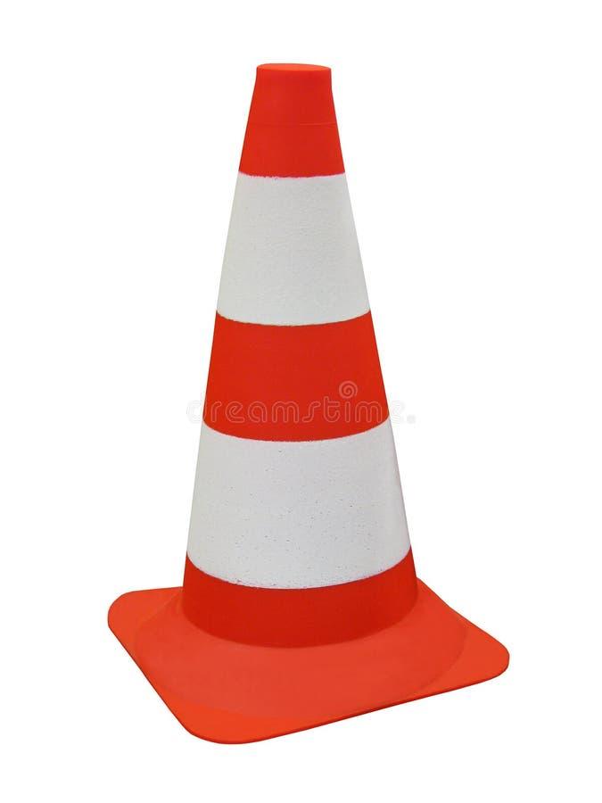 障碍查出的橙色路安全符号 免版税库存照片