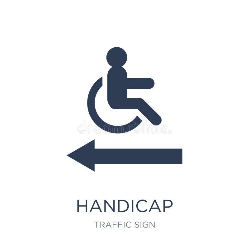 障碍标志象 在whi的时髦平的传染媒介障碍标志象 皇族释放例证