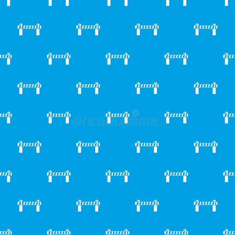障碍样式无缝的蓝色 库存例证