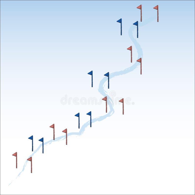 障碍滑雪 库存例证