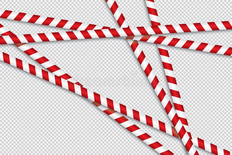 障碍磁带红色和空白线路  皇族释放例证