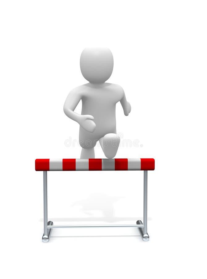 障碍跳的人  向量例证