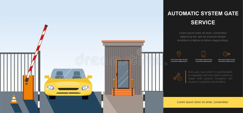 障碍门自动化系统 库存例证