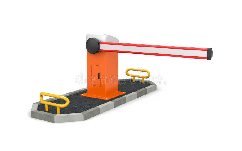 障碍-安全的自动化系统 安全岛 向量例证