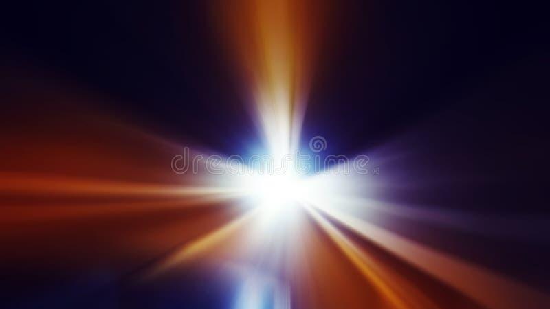 隧道光线影响,时间旅行概念 皇族释放例证