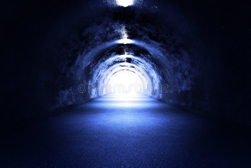 隧道光 向量例证