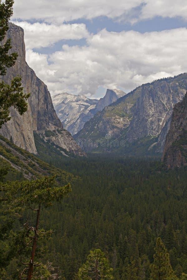 从隧道入口的尤塞米提谷 约塞米蒂国家公园,加利福尼亚 免版税库存照片