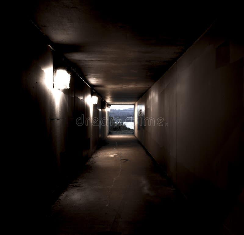 隧道向海洋 免版税图库摄影