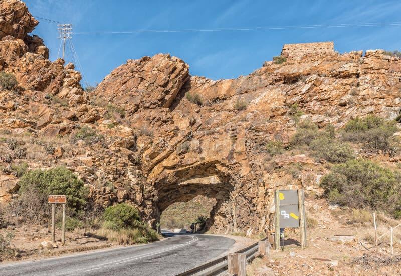 隧道和英国堡垒从布尔战争在Montagu附近 库存图片