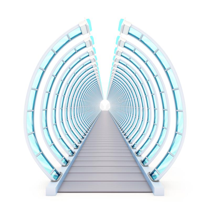 隧道未来派戏弄 库存例证
