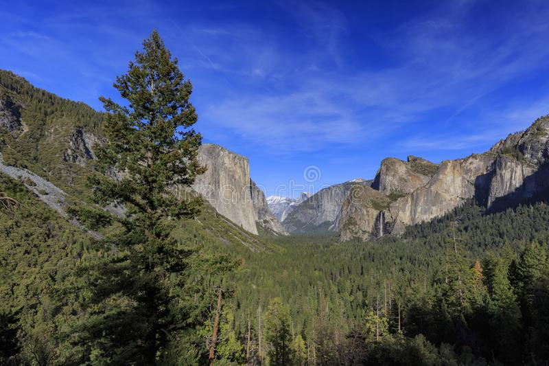 隧道视图,优胜美地国家公园,加利福尼亚,美国 免版税库存图片